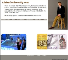 Adrian Goldsworthy's personal website